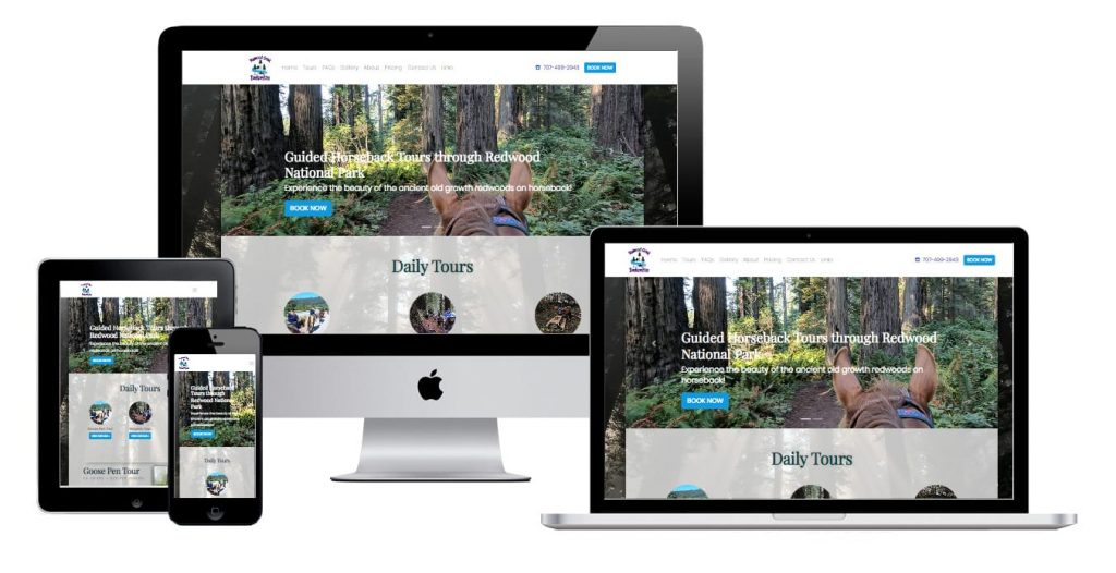 multi device mockup of a website made by Ideal Positions