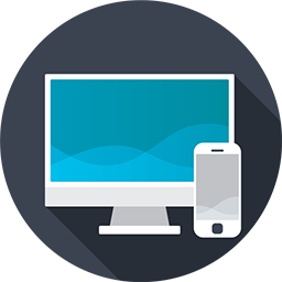 illustration of a computer screen and a mobile phone